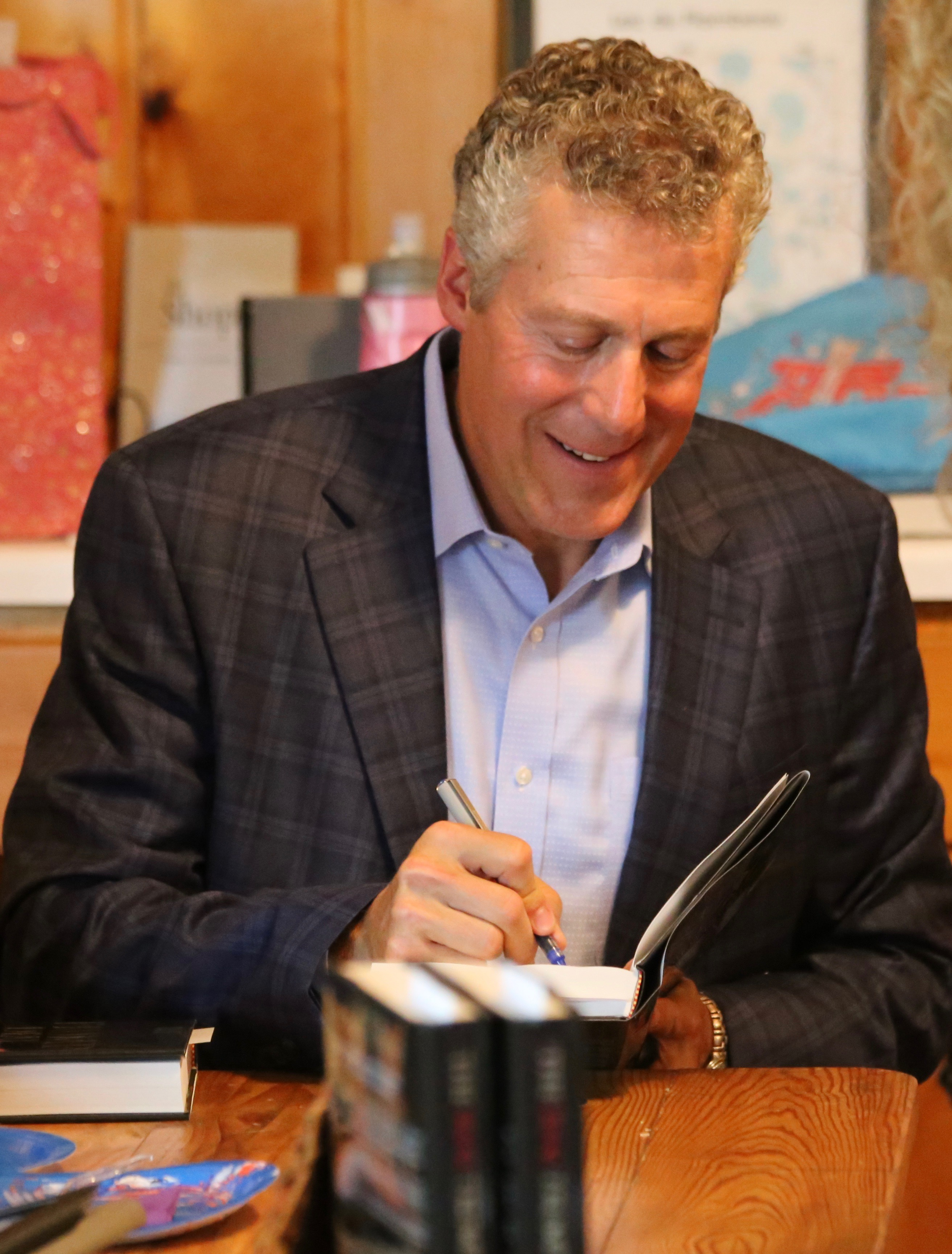 Marty Latz at a Book Signing